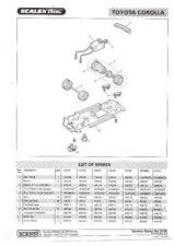 Buy Scalextrix No.322B Toyata Corolla Service Sheets by download Mauritron #206398