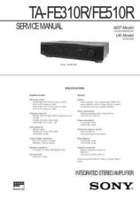 Buy Sony ta-FE210 Service Manual. by download Mauritron #245287