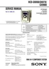 Buy Sony HCD-GX9900 Manual by download Mauritron #229168