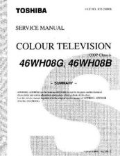 Buy TOSHIBA 46WH08B SERVICE Manual by download Mauritron #230528