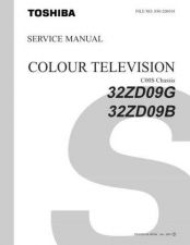 Buy TOSHIBA 32ZD09TXT SERVICE Service Schematics Service Information by download #1