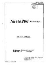 Buy NIKON Nuvis 200 Repair Manual by download Mauritron #266160