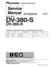 Buy Pioneer dv-380-k-1 Service Manual by download Mauritron #234232