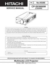 Buy Hitachi CPX275service6drv6 Service Manual by download Mauritron #261050