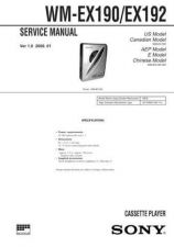 Buy Sony WM-EX190-EX192 Service Manual. by download Mauritron #245648