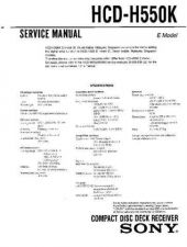 Buy Sony HCD-H550K Manual by download Mauritron #229206