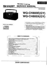 Buy Sharp. WQCH800E-007 Service Manual by download Mauritron #211873