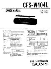 Buy Sony CFS-W404L Service Manual by download Mauritron #238999