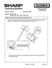 Buy SHARP FAX246 TECHNICAL BULLETIN by download #104414