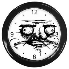 Buy Me Gusta Wall Clock Rage Face Toon Comic Meme Art Bar Decor
