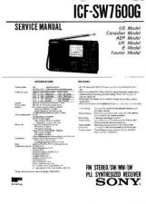 Buy Sony ICF-SW7600G Service Manual. by download Mauritron #241656