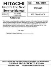 Buy Hitachi 50V500G Manual by download Mauritron #224228
