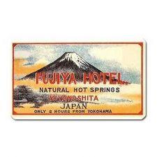 Buy Fujiya Hotel Japan Retro Travel Art Souvenir Vinyl Magnet