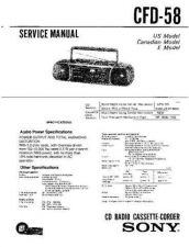 Buy Sony CFD-580 Service Manual by download Mauritron #238742