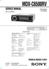 Buy Sony MDX-C6500RV service manual Technical Manual. by download Mauritron #242749