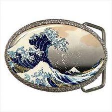 Buy Japan Art The Great Wave Mount Fuji Hokusai Belt Buckle