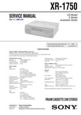 Buy Sony XR1750 Service Manual by download Mauritron #246065