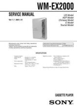 Buy Sony WM-EX2000 Service Information by download Mauritron #238272