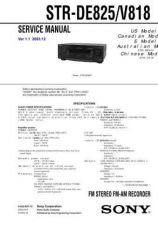 Buy Sony STR-DE915TA-V909VE910 Service Manual. by download Mauritron #245131