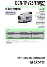 Buy Sony DCR-TRV7TRV7E. Service Manual by download Mauritron #239911