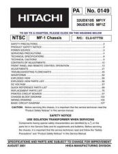Buy Hitachi 32UDX10SMF1Y Service Manual by download Mauritron #262552