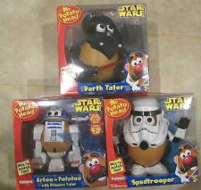Buy 3 Star Wars Mr Potato Head Playskool - Darth Vader - Storm Trooper & R2D2 MINT