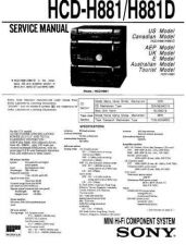 Buy Sony HCD-H881 Service Manual by download Mauritron #241181
