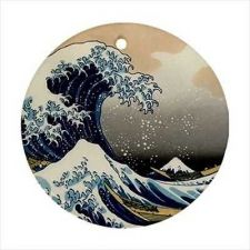 Buy The Great Wave at Kanagawa Japanese Hokusai Art Ceramic Ornament
