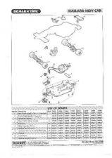 Buy Scalextrix No.354B Dallara Indy Car Service Sheets by download Mauritron #20647