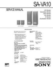 Buy Sony SA-VA10 Service Information by download Mauritron #238016