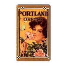 Buy Portland Oregon Retro Travel Tourism Art Vinyl Magnet
