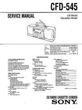 Buy Sony cfd-55 Service Manual by download Mauritron #238729