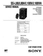 Buy Sony SS-L100V Manual by download Mauritron #229817