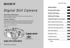 Buy Sony DSC-P71P71M Technical Information by download Mauritron #235581