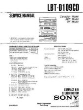 Buy Sony LBT-D109CD Service Manual by download Mauritron #241747