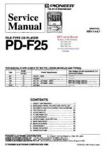 Buy PIONER PDF25 RRV1487 CD Technical Information by download #119438