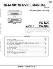 Buy Sharp VCS-20 Service Manual by download Mauritron #231509