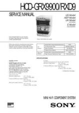 Buy Sony HCD-GRX90AV-RXD10AV Service Manual by download Mauritron #241043