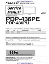 Buy Pioneer PDP-436PE-WYVIXK5[] Service Manual by download Mauritron #235062