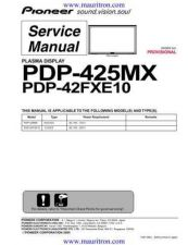 Buy Pioneer PDP-425CMX-LUC5 Service Manual by download Mauritron #234741