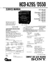 Buy Sony HCD-A290K Service Manual by download Mauritron #240872