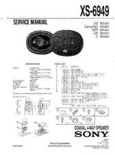 Buy Sony XS-6949 Service Information by download Mauritron #238418