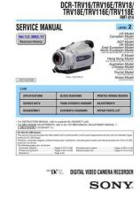 Buy Sony DCR-TRV410TRV410E TRV510TRV510E Service Manual by download Mauritron #2398