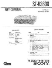 Buy Sony ST-H3600 Service Manual. by download Mauritron #244979
