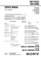 Buy Sony CMT-CPX22-MHC-NXM3 Service Manual by download Mauritron #231767
