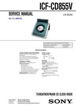 Buy Sony ICF-CD855V Service Manual. by download Mauritron #241600