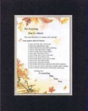 Buy Inspirational Poem - For Everything There Is a Season . . 11x14 double matting