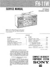 Buy Sony FH-B511-B550-MHC-550 Service Manual by download Mauritron #240740