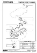 Buy Scalextrix No.434 Porsche 997 GT3 RS Drift Service Sheets by download Mauritron