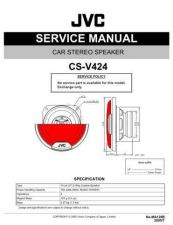 Buy JVC CS-V624 Service Manual Schematic Circuit. by download Mauritron #270202
